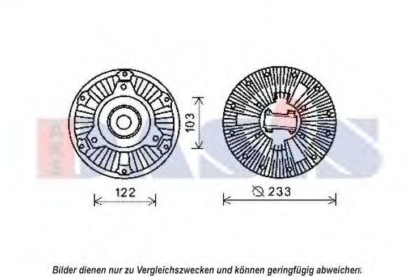 Сцепление, вентилятор радиатора AKS DASIS 138066N