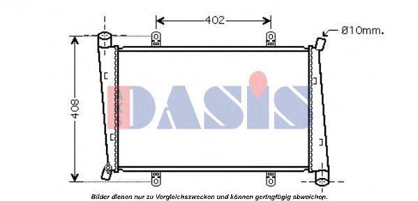 Радиатор, охлаждение двигателя AKS DASIS 140014N