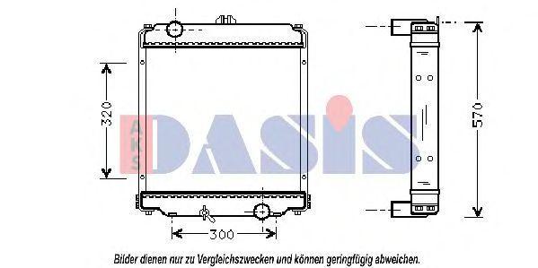 Радиатор, охлаждение двигателя AKS DASIS 140021N