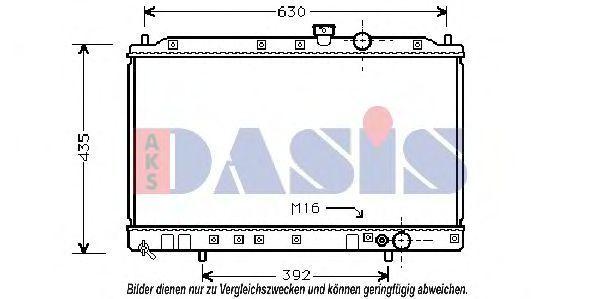 Радиатор, охлаждение двигателя AKS DASIS 140026N