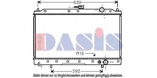 Радиатор, охлаждение двигателя AKS DASIS 140027N