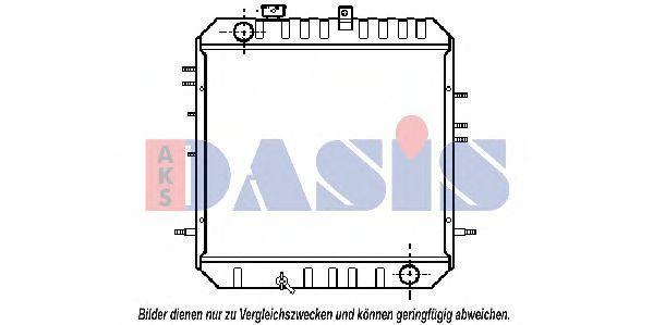 Радиатор, охлаждение двигателя AKS DASIS 140028N