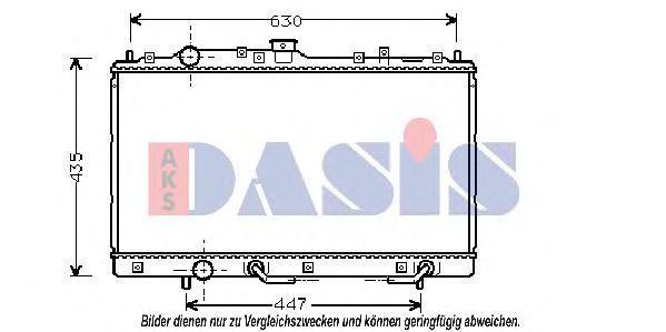 Радиатор, охлаждение двигателя AKS DASIS 140034N