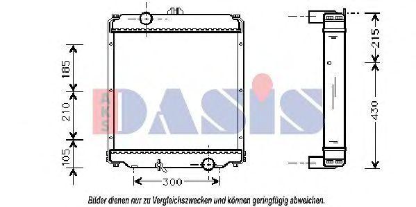 Радиатор, охлаждение двигателя AKS DASIS 140041N