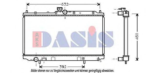 Радиатор, охлаждение двигателя AKS DASIS 140048N