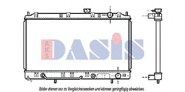 Радиатор, охлаждение двигателя AKS DASIS 140049N