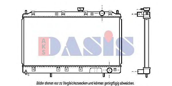 Радиатор, охлаждение двигателя AKS DASIS 140051N