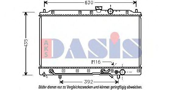 Радиатор, охлаждение двигателя AKS DASIS 140054N