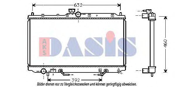 Радиатор, охлаждение двигателя AKS DASIS 140056N