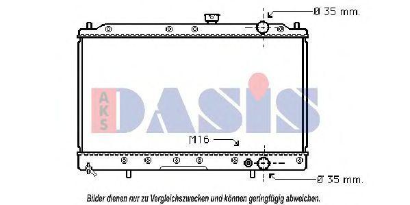 Радиатор, охлаждение двигателя AKS DASIS 140057N