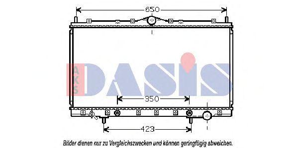 Радиатор, охлаждение двигателя AKS DASIS 140058N