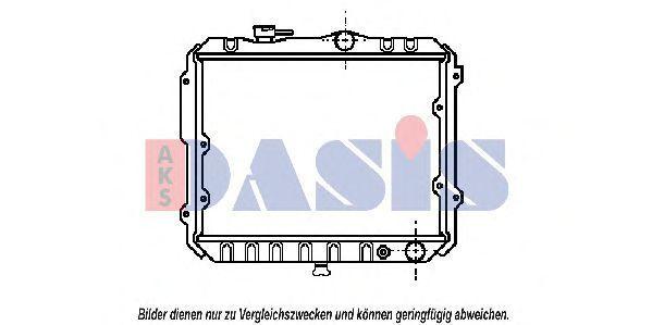 Радиатор, охлаждение двигателя AKS DASIS 140060N