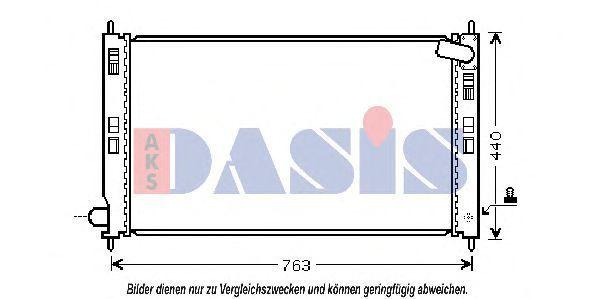 Радиатор, охлаждение двигателя AKS DASIS 140069N