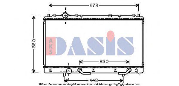 Радиатор, охлаждение двигателя AKS DASIS 140087N