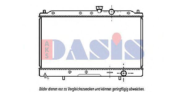 Радиатор, охлаждение двигателя AKS DASIS 140120N