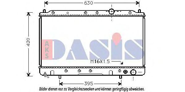 Радиатор, охлаждение двигателя AKS DASIS 140190N
