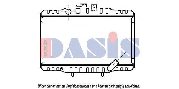 Радиатор, охлаждение двигателя AKS DASIS 140340N