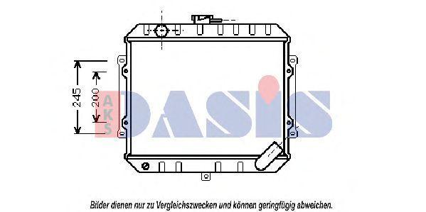 Радиатор, охлаждение двигателя AKS DASIS 140540N