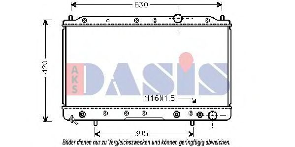 Радиатор, охлаждение двигателя AKS DASIS 140950N