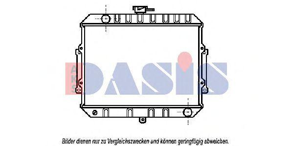 Радиатор, охлаждение двигателя AKS DASIS 140960N