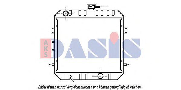 Радиатор, охлаждение двигателя AKS DASIS 141130N