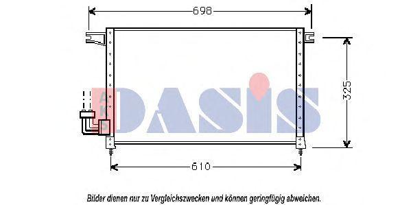 Конденсатор, кондиционер AKS DASIS 142030N