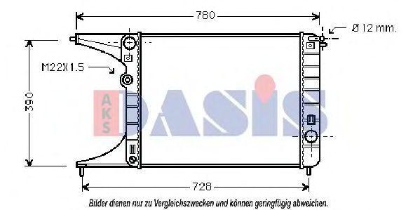 Радиатор, охлаждение двигателя AKS DASIS 150000N