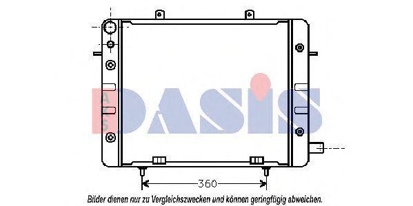 Радиатор, охлаждение двигателя AKS DASIS 150001N