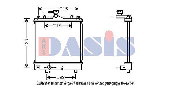 Радиатор, охлаждение двигателя AKS DASIS 150023N