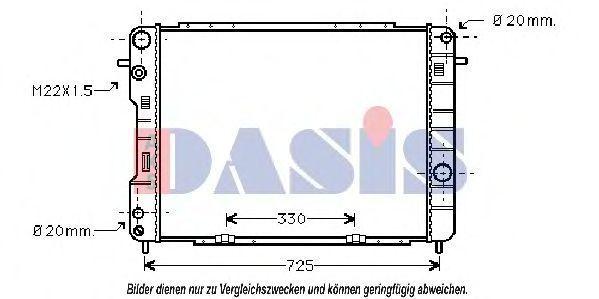 Радиатор, охлаждение двигателя AKS DASIS 150029N