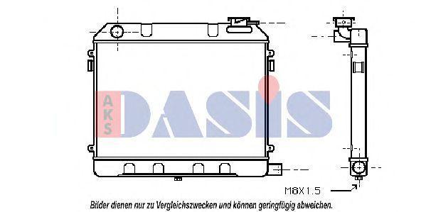 Радиатор, охлаждение двигателя AKS DASIS 150030N