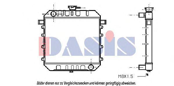 Радиатор, охлаждение двигателя AKS DASIS 150036N