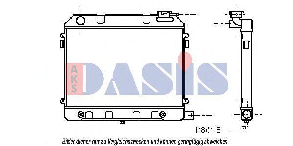 Радиатор, охлаждение двигателя AKS DASIS 150040N