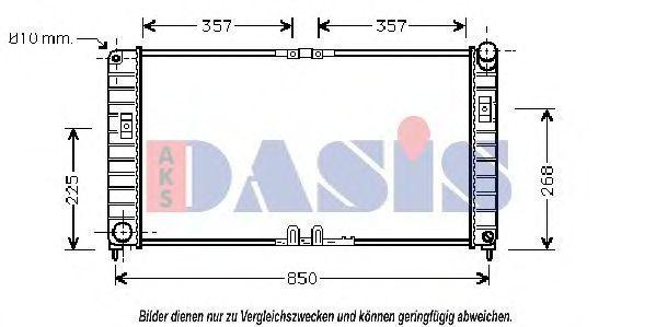 Радиатор, охлаждение двигателя AKS DASIS 150049N