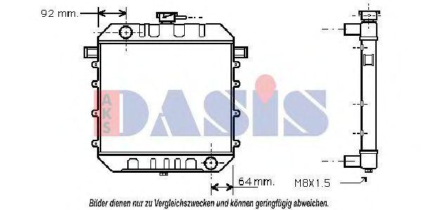 Радиатор, охлаждение двигателя AKS DASIS 150050N