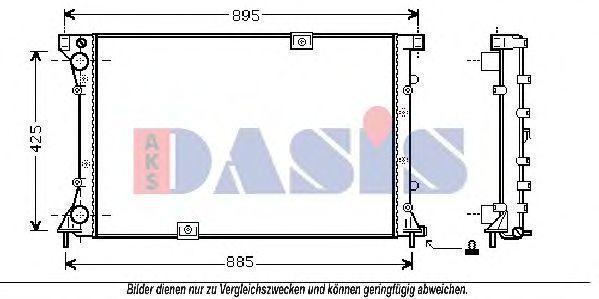 Радиатор, охлаждение двигателя AKS DASIS 150054N