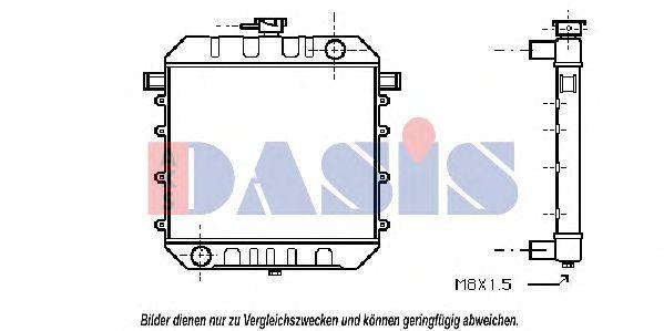 Радиатор, охлаждение двигателя AKS DASIS 150060N