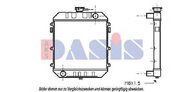 Радиатор, охлаждение двигателя AKS DASIS 150070N