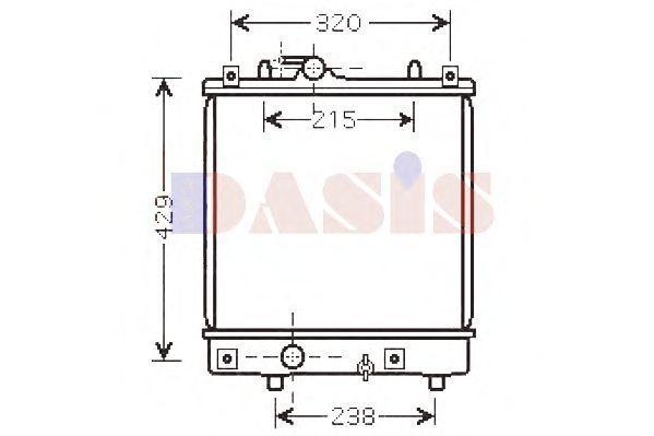 Радиатор, охлаждение двигателя AKS DASIS 150073N
