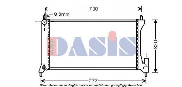 Радиатор, охлаждение двигателя AKS DASIS 150075N