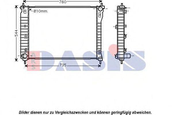 Радиатор, охлаждение двигателя AKS DASIS 150076N