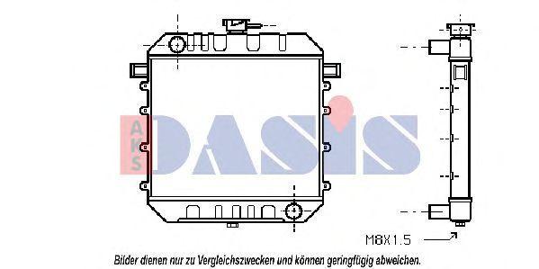 Радиатор, охлаждение двигателя AKS DASIS 150080N