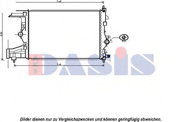 Радиатор, охлаждение двигателя AKS DASIS 150088N