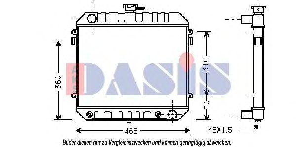Радиатор, охлаждение двигателя AKS DASIS 150090N
