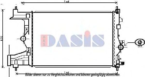 Радиатор, охлаждение двигателя AKS DASIS 150101N