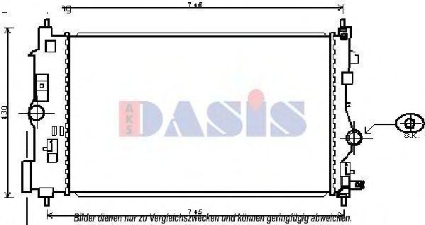 Радиатор, охлаждение двигателя AKS DASIS 150103N