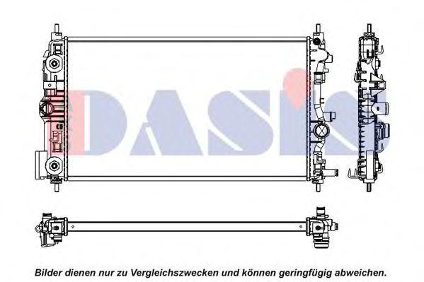 Радиатор, охлаждение двигателя AKS DASIS 150105N