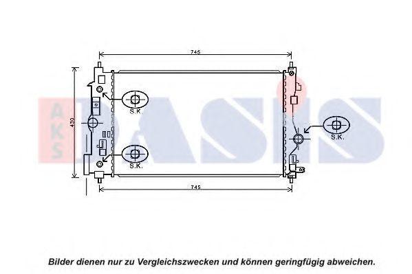 Радиатор, охлаждение двигателя AKS DASIS 150106N