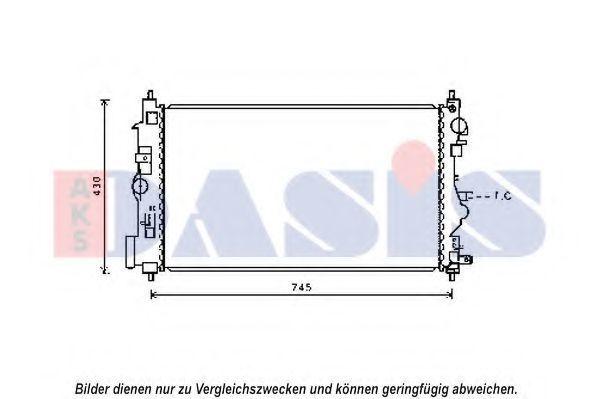 Радиатор, охлаждение двигателя AKS DASIS 150116N