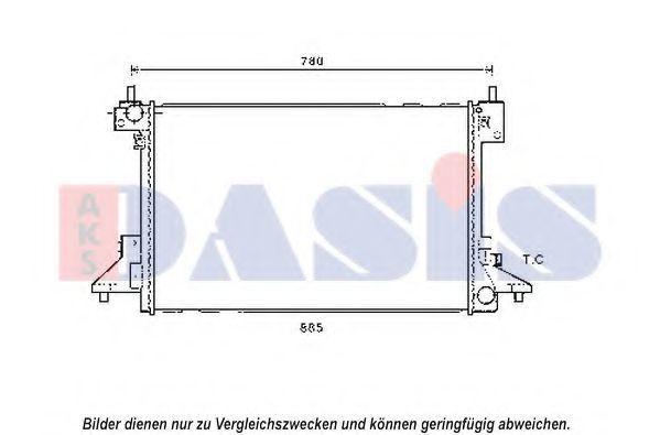 Радиатор, охлаждение двигателя AKS DASIS 150117N